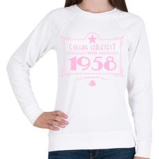 PRINTFASHION csillag-1958-pink - Női pulóver - Fehér