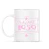 PRINTFASHION csillag-1959-pink - Bögre - Fehér