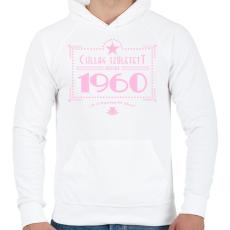 PRINTFASHION csillag-1960-pink - Férfi kapucnis pulóver - Fehér