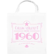 PRINTFASHION csillag-1960-pink - Vászontáska - Fehér