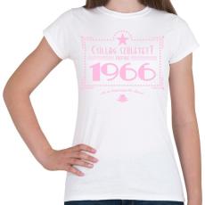 PRINTFASHION csillag-1966-pink - Női póló - Fehér