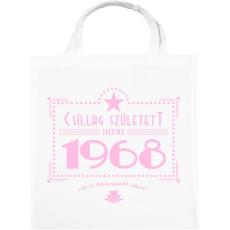 PRINTFASHION csillag-1968-pink - Vászontáska - Fehér