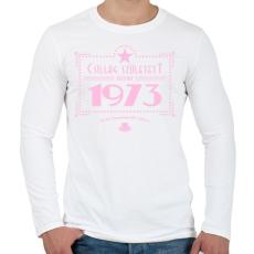 PRINTFASHION csillag-1973-pink - Férfi hosszú ujjú póló - Fehér