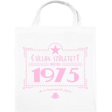 PRINTFASHION csillag-1975-pink - Vászontáska - Fehér