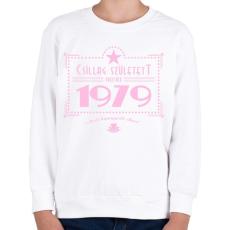 PRINTFASHION csillag-1979-pink - Gyerek pulóver - Fehér