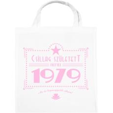 PRINTFASHION csillag-1979-pink - Vászontáska - Fehér
