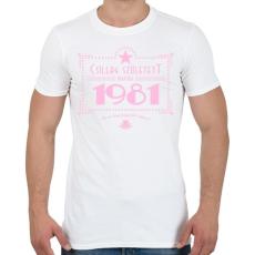 PRINTFASHION csillag-1981-pink - Férfi póló - Fehér