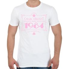 PRINTFASHION csillag-1984-pink - Férfi póló - Fehér