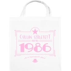 PRINTFASHION csillag-1986-pink - Vászontáska - Fehér