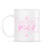 PRINTFASHION csillag-1987-pink - Bögre - Fehér