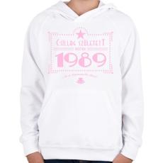 PRINTFASHION csillag-1989-pink - Gyerek kapucnis pulóver - Fehér