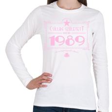 PRINTFASHION csillag-1989-pink - Női hosszú ujjú póló - Fehér