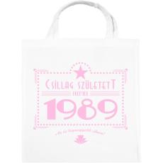 PRINTFASHION csillag-1989-pink - Vászontáska - Fehér