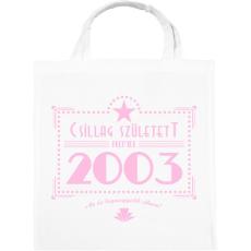 PRINTFASHION csillag-2003-pink - Vászontáska - Fehér