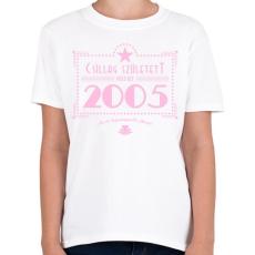 PRINTFASHION csillag-2005-pink - Gyerek póló - Fehér