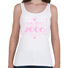 PRINTFASHION csillag-2006-pink - Női atléta - Fehér