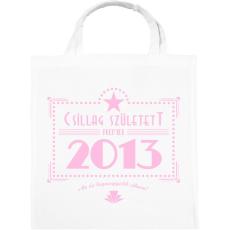 PRINTFASHION csillag-2013-pink - Vászontáska - Fehér