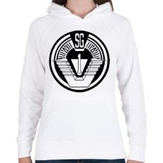 PRINTFASHION Csillagkapu csk1 logo - Női kapucnis pulóver - Fehér
