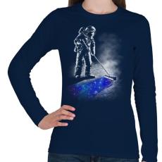PRINTFASHION Csillagpor - Női hosszú ujjú póló - Sötétkék