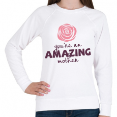 PRINTFASHION Csodálatos Anya - Női pulóver - Fehér