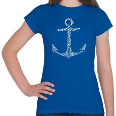 PRINTFASHION Csonthorgony - Női póló - Királykék