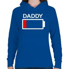 PRINTFASHION DADDY2.png - Női kapucnis pulóver - Királykék