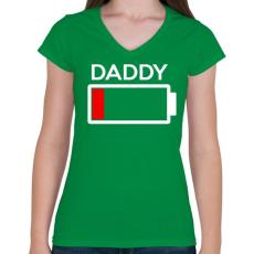 PRINTFASHION DADDY2.png - Női V-nyakú póló - Zöld