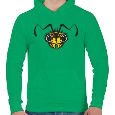 PRINTFASHION darázs - Férfi kapucnis pulóver - Zöld