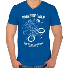 PRINTFASHION Darkside rider - Férfi V-nyakú póló - Királykék