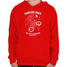 PRINTFASHION Darkside rider - Gyerek kapucnis pulóver - Piros