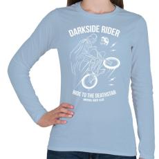 PRINTFASHION Darkside rider - Női hosszú ujjú póló - Világoskék