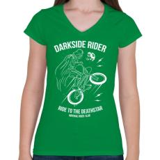 PRINTFASHION Darkside rider - Női V-nyakú póló - Zöld