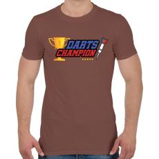 PRINTFASHION Darts bajnok - Férfi póló - Mogyoróbarna