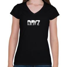 PRINTFASHION Dayz - Női V-nyakú póló - Fekete