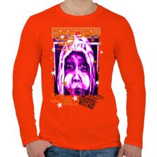 PRINTFASHION DEE JAY - Férfi hosszú ujjú póló - Narancs