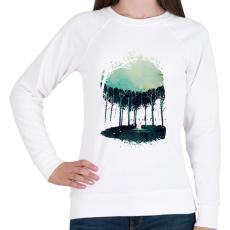 PRINTFASHION Deep in the forest - Női pulóver - Fehér