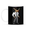 PRINTFASHION Deer Security - Bögre - Fekete