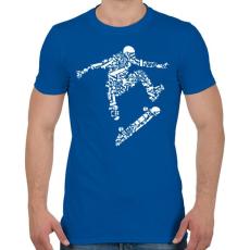 PRINTFASHION Deszkás - Férfi póló - Királykék