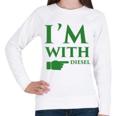 PRINTFASHION diesel.png - Női pulóver - Fehér
