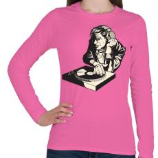 PRINTFASHION DJ - Női hosszú ujjú póló - Rózsaszín