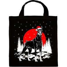 PRINTFASHION Dobermann karácsony - Vászontáska - Fekete