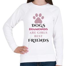 PRINTFASHION Dog best friend - Női pulóver - Fehér