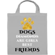 PRINTFASHION Dog friend - Vászontáska - Szürke