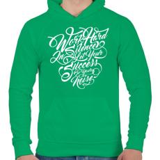 PRINTFASHION Dolgozz keményen - Férfi kapucnis pulóver - Zöld