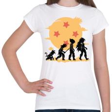 PRINTFASHION Dragonball evolúció - Női póló - Fehér