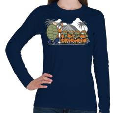 PRINTFASHION Dragonball teknősök - Női hosszú ujjú póló - Sötétkék