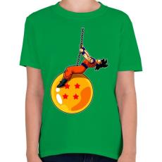 PRINTFASHION Dragonball - Wrecking Ball - Gyerek póló - Zöld