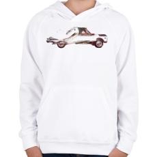 PRINTFASHION Drive me back home 3 - Gyerek kapucnis pulóver - Fehér