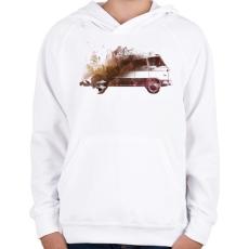 PRINTFASHION Drive me back home - Gyerek kapucnis pulóver - Fehér