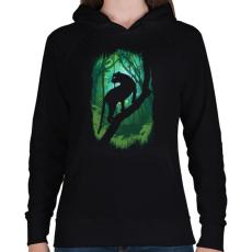 PRINTFASHION Dzsungel könyve - Női kapucnis pulóver - Fekete